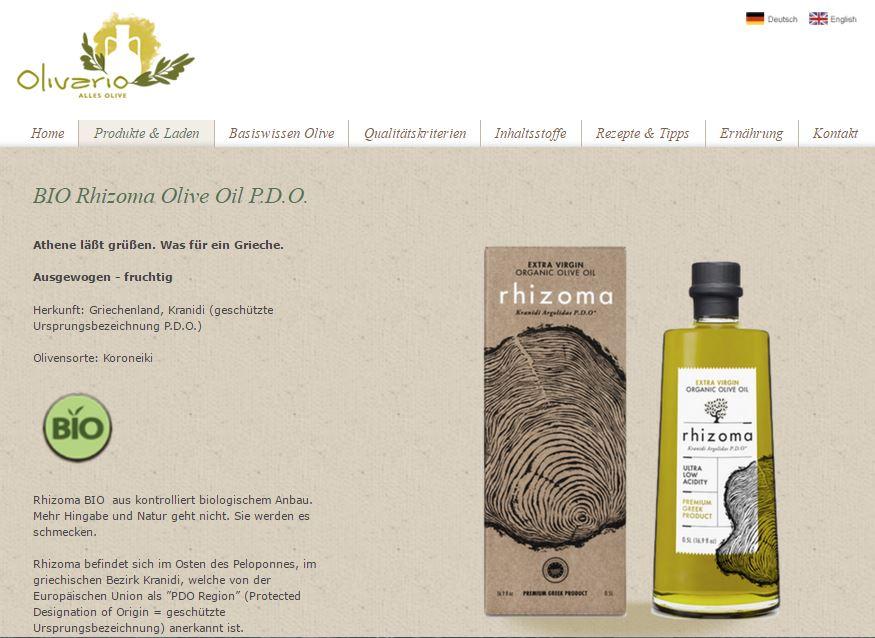 Olivario page